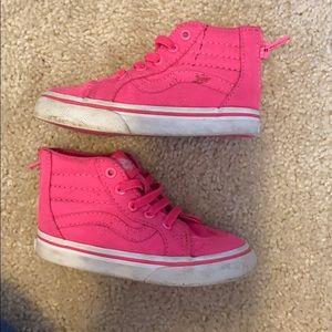 Pink Vans high tops
